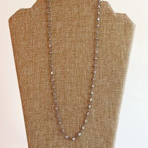 Retired Silpada Sterling Silver Crystal Necklace